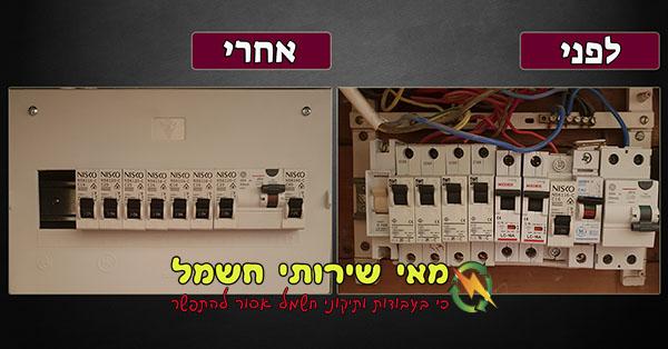 החלפת לוח חשמל בחולון